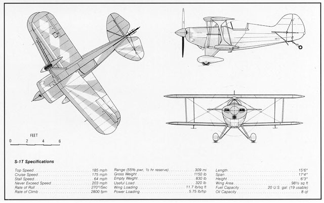 双翼飞机模型图纸