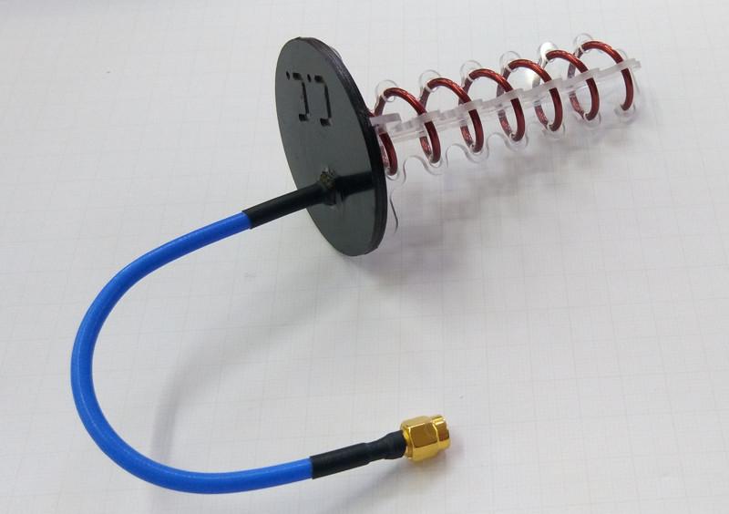 helix antenne 7 turn lhcp 45 00. Black Bedroom Furniture Sets. Home Design Ideas